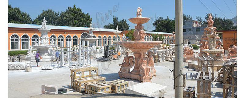 Marble Water Lotus Fountain for Backyard Decor Sale MOKK-697