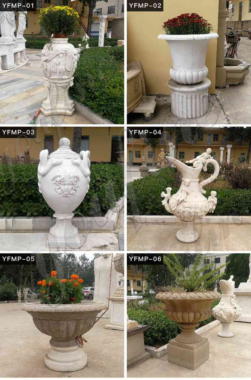 Marble planters for sale