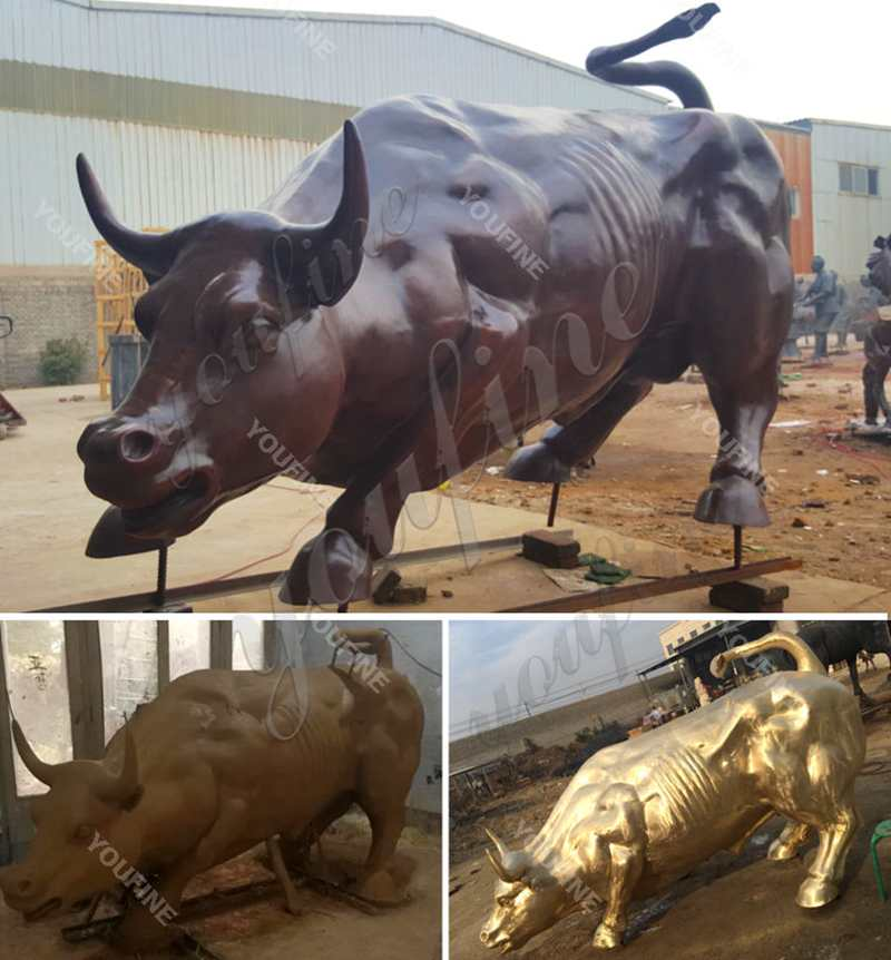 Outdoor Casting Bronze Bull Statue