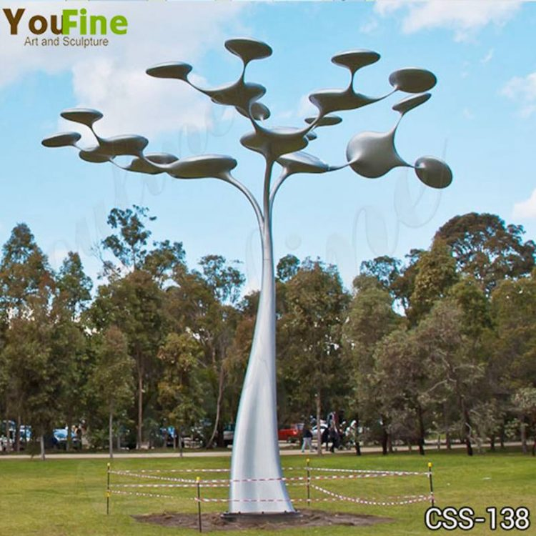 Outdoor Large Metal Tree Stainless Steel Sculpture for Sale CSS-138
