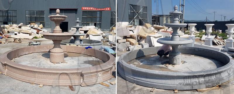 Outdoor Three Tiered High Quality Garden Marble Water Fountain Design MOKK-126