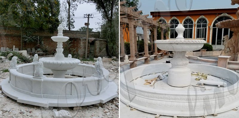 Outdoor Three Tiered High Quality Garden Marble Water Fountain Design