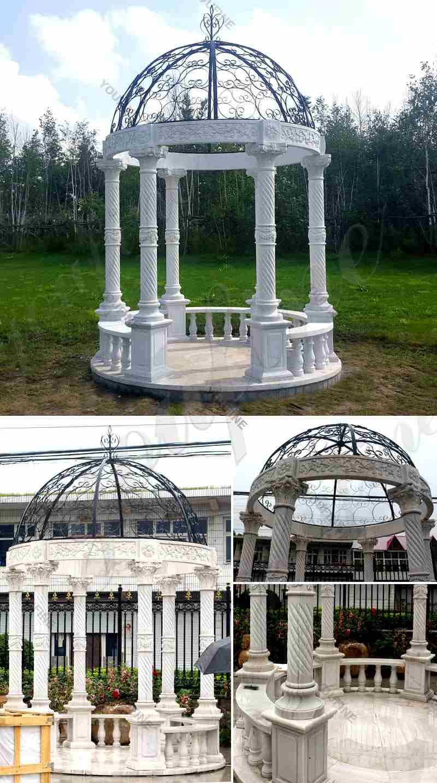 Popular Outdoor Garden Decoration White Marble Gazebo Supplier - 副本