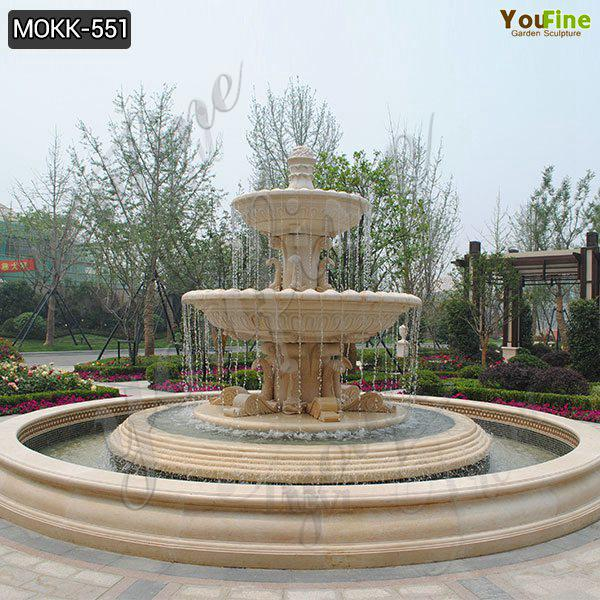 Simple Design Three Tiered High Quality Marble Water Fountain Sale MOKK-551