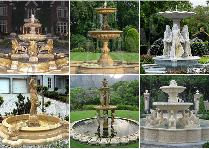 Three Tiered High Quality Marble Water Fountain Design Factory