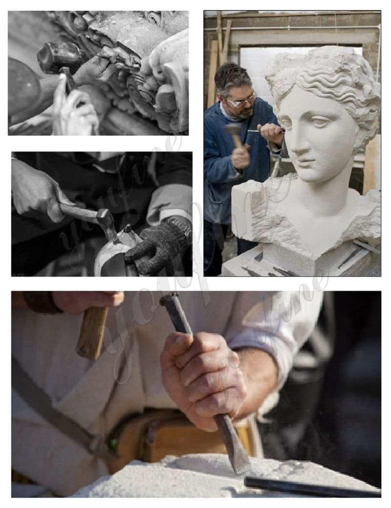 four seasons goddesses marble statues