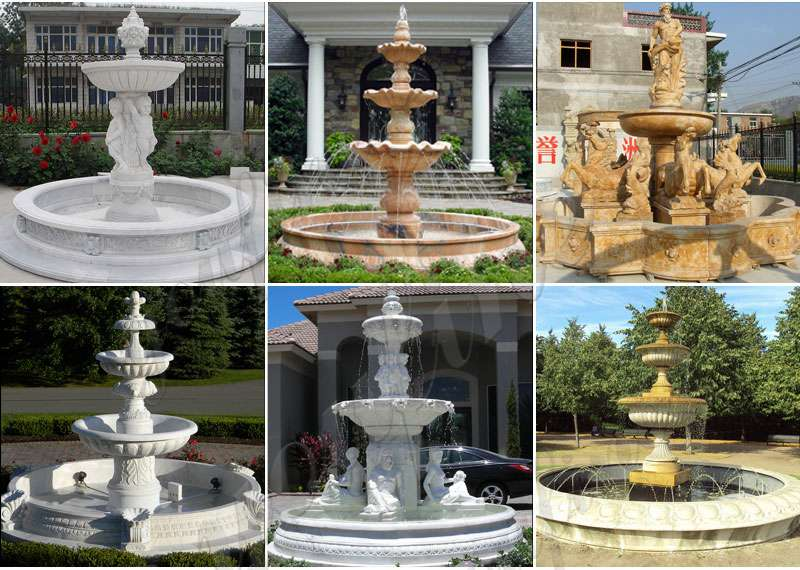 marble fountain water feature