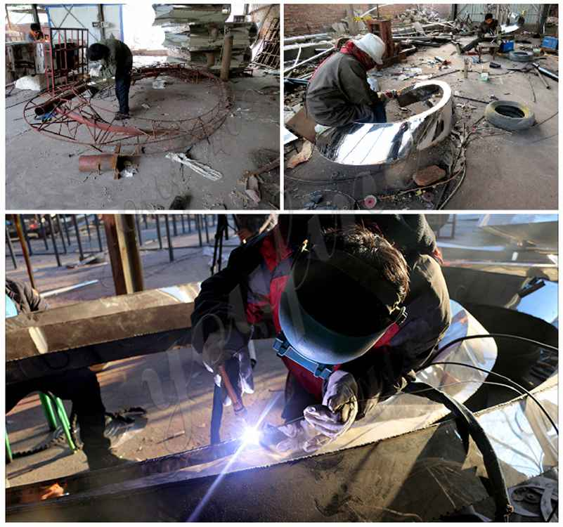 process of Outdoor Mirror Polished Stainless Steel Sculptures