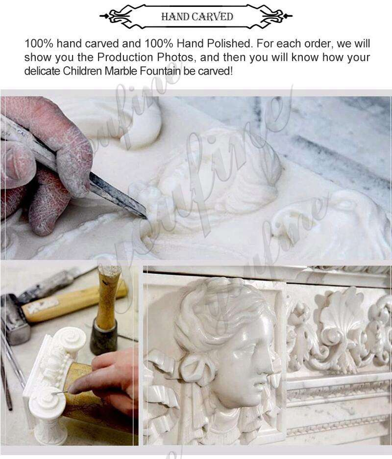 process of White Marble Flower Planters for Sale