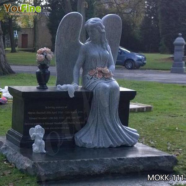 Hot Selling Granite Weeping Angel Monument Headstone Suppliers MOKK-111