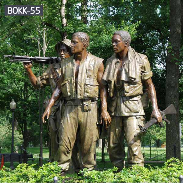 Famous Life Size Bronze The Three Soldiers Statue for Memory Maker BOKK-55