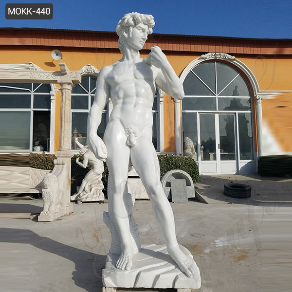 Famous Michelangelo's David Marble Statue Replica for Sale MOKK-440