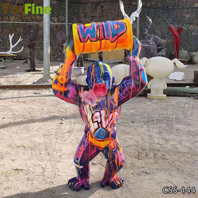 Modern Popular Fiberglass King Kong Sculptures for Sale CSS-144
