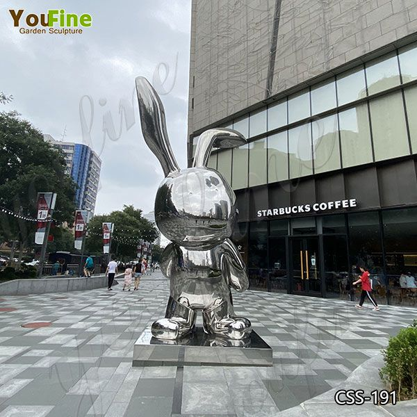 Large Abstract Stainless Steel Rabbit Sculpture for Garden Suppliers CSS-191