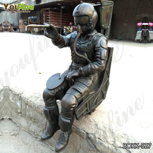 Life Size Customized Bronze Spaceman Military Statue Design for Sale BOKK-527