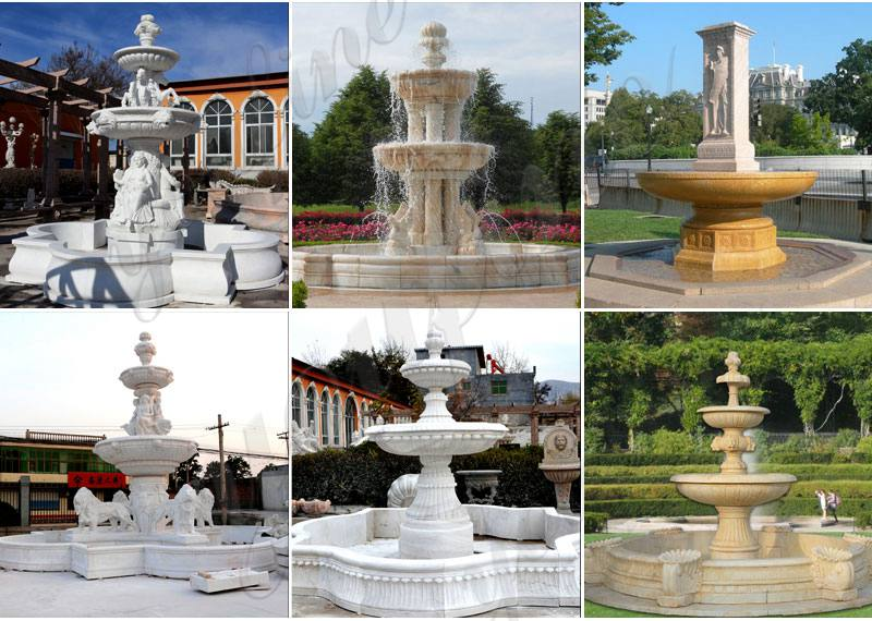 Marble Tiered Woman Water Fountain for Garden Decor MOKK-685