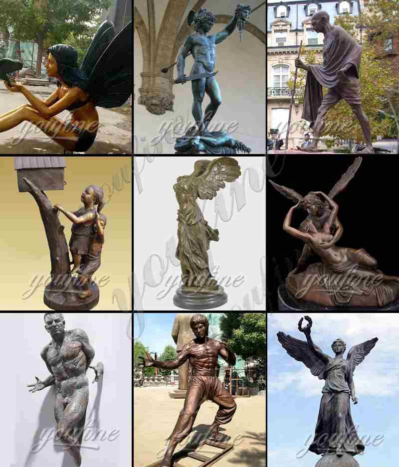 Outdoor Craft Bronze Soldier Sculpture