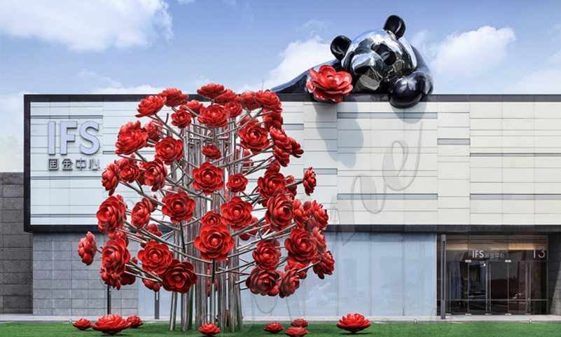 Stainless Steel Flower Sculptures for sale