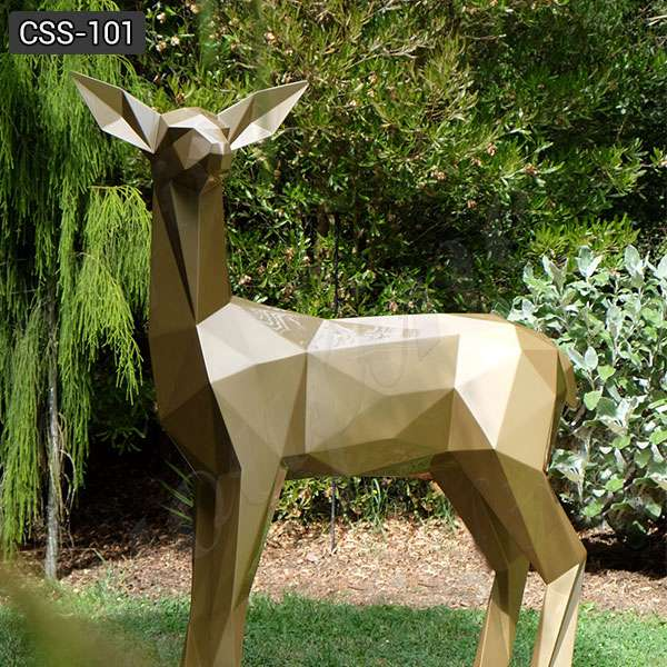 Life Size Abstract Stainless Steel Deer Sculpture on Sale CSS-101