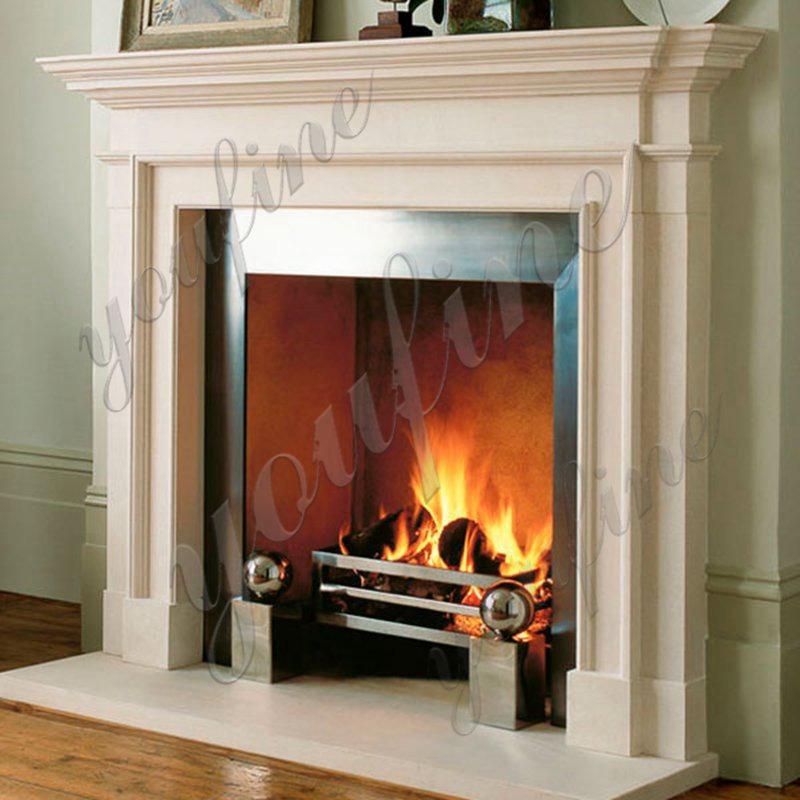 Decoration Simple Design Marble Fireplace Factory MOKK-496