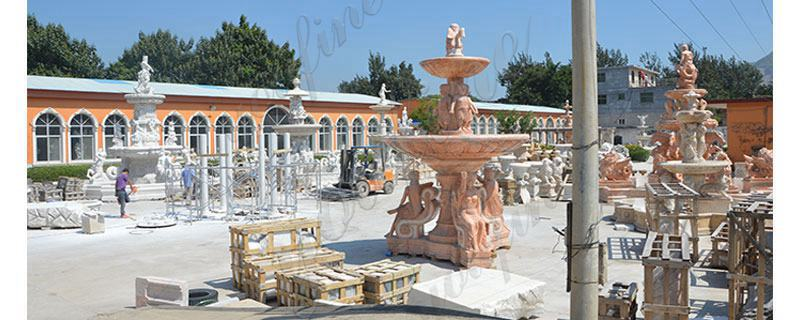 Garden Decoration Tiered Marble Water Lion Fountain for Sale