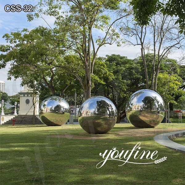 High Polished Modern Stainless Steel Ball Sculpture for Garden Suppliers CSS-32