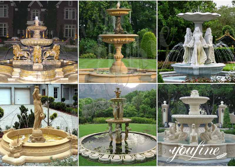 Large outdoor marble fountains