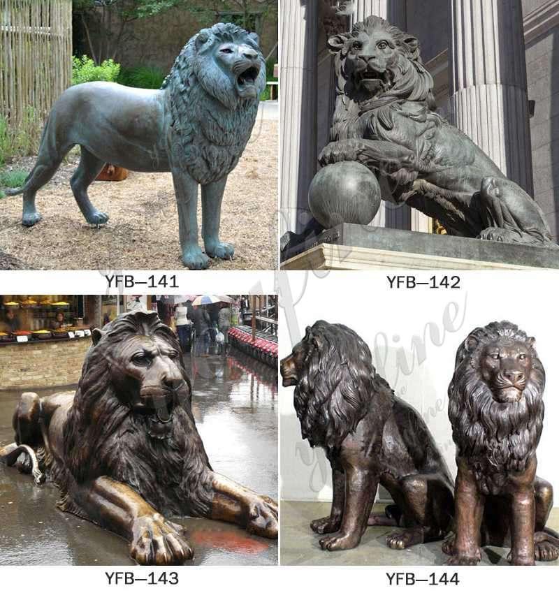 Outdoor Antique Bronze Lion Family Wildlife Animals Sculptures for Sale Other Designs