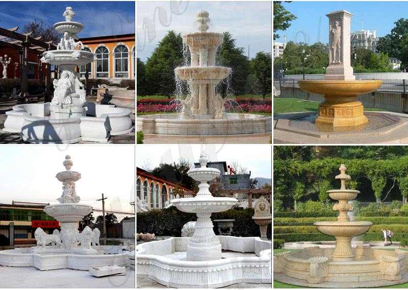 Tiered Marble Water Lion Fountain for Sale MOKK-729
