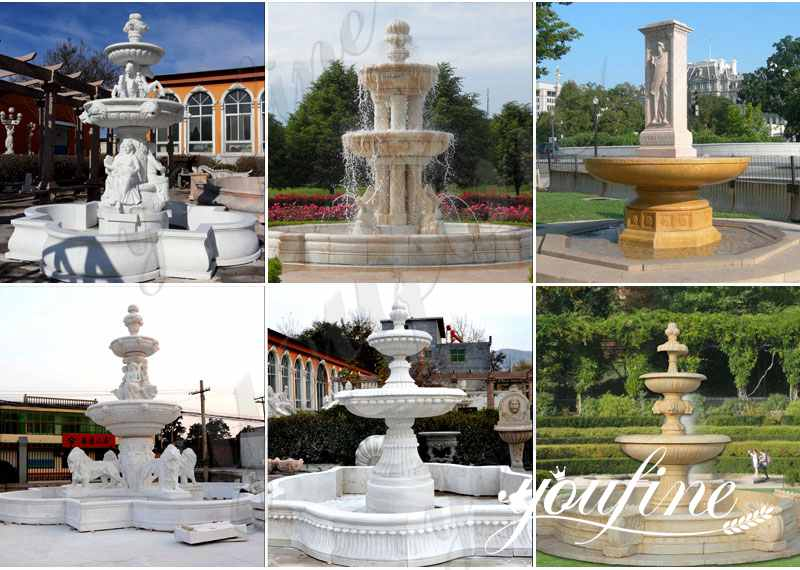 natural marble water fountains