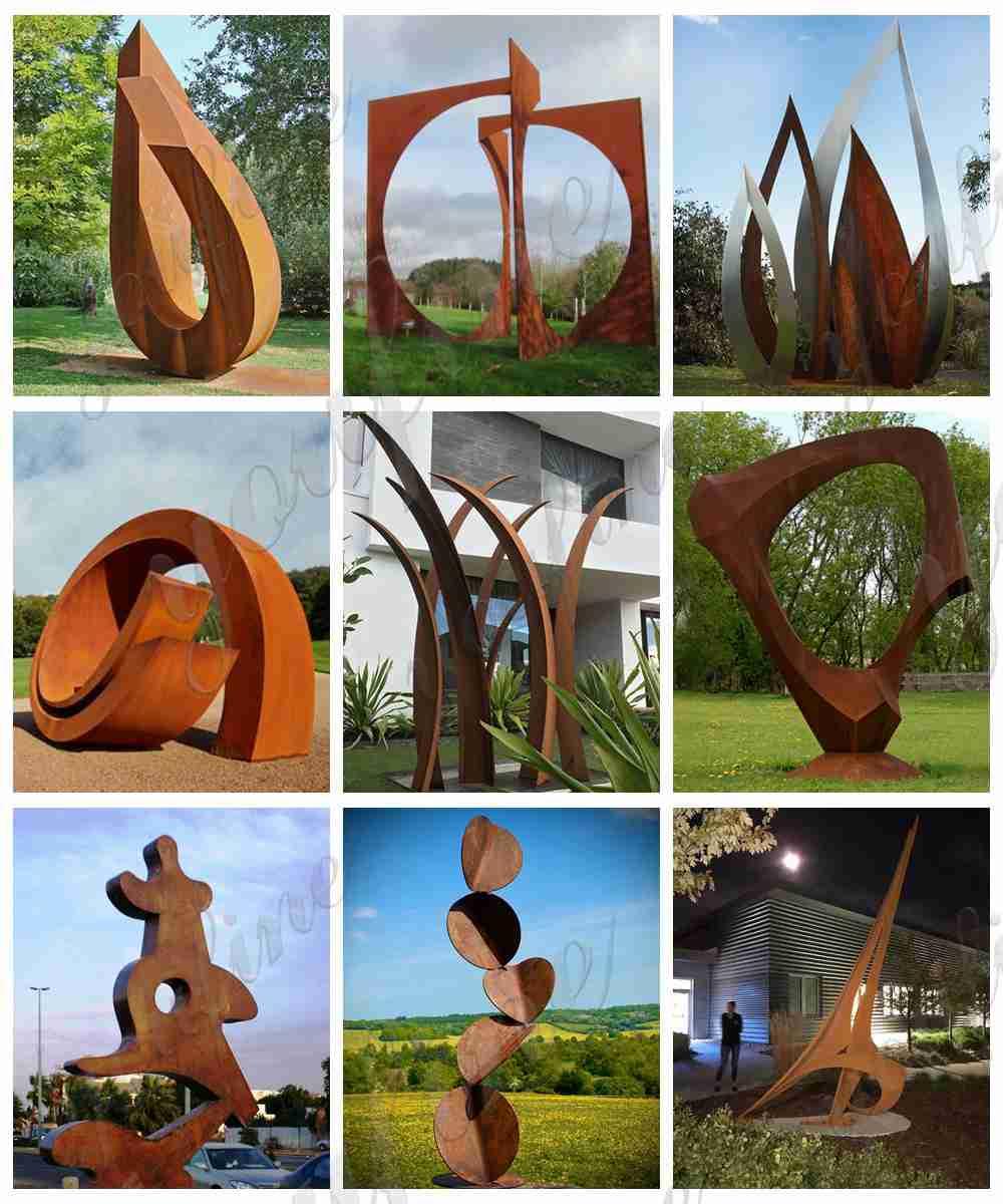 Corten Steel Sculpture Garden Decor from Factory Supply