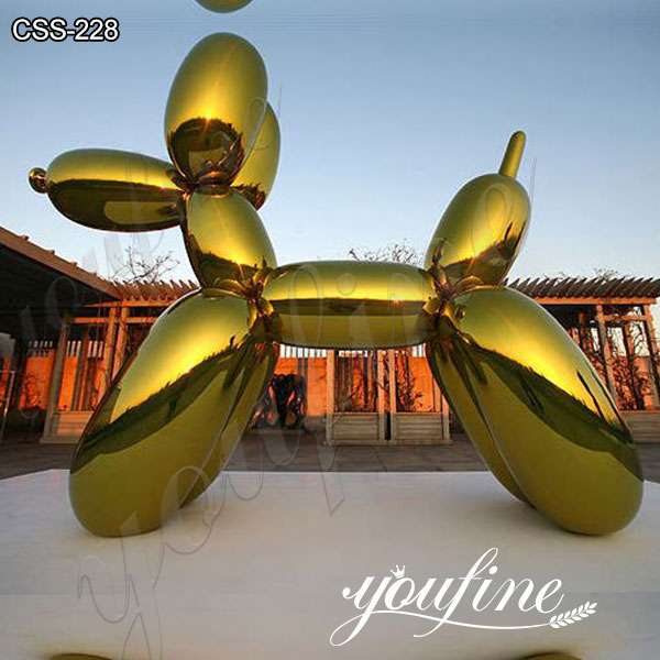 Large Jeff Koons's Yellow Metal Balloon Dog Sculpture for Sale CSS-228