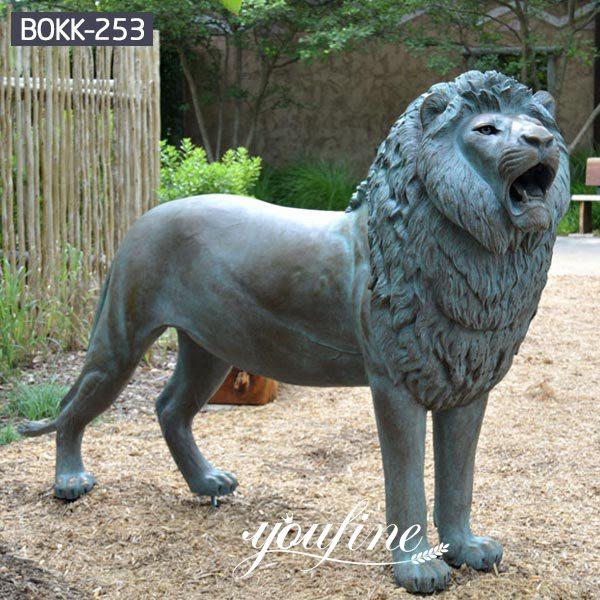 Life Size Bronze Walking Lion Statue Garden Decor for Sale BOKK-253