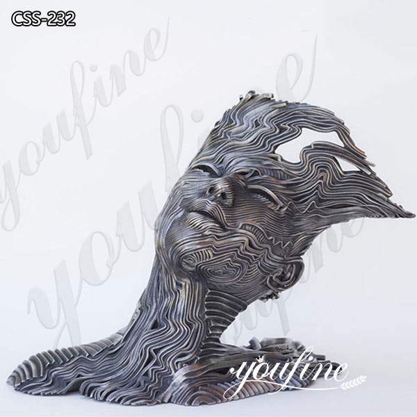 Famous Stainless Steel Human Figure Metal Sculpture by Gil Bruvel for Sale CSS-232