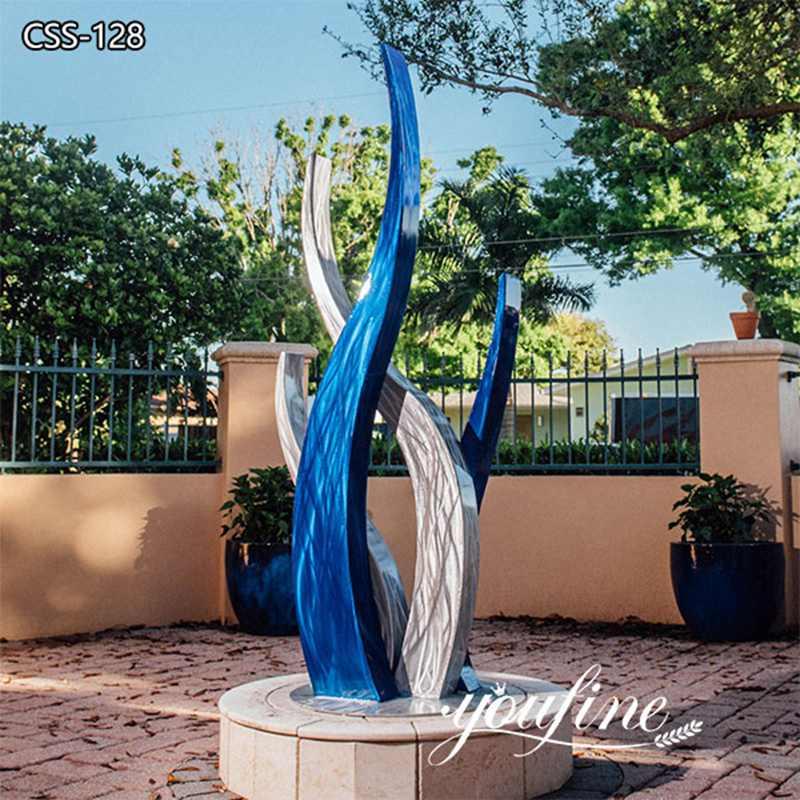 Modern Abstract Stainless Steel Outdoor Sculpture Manufacturer CSS-128
