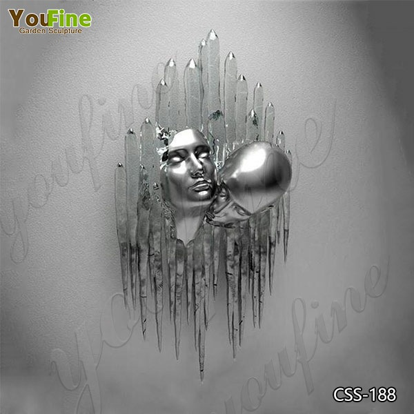 Modern Abstract Love Design Stainless Steel Human Body Sculpture for Sale CSS-188