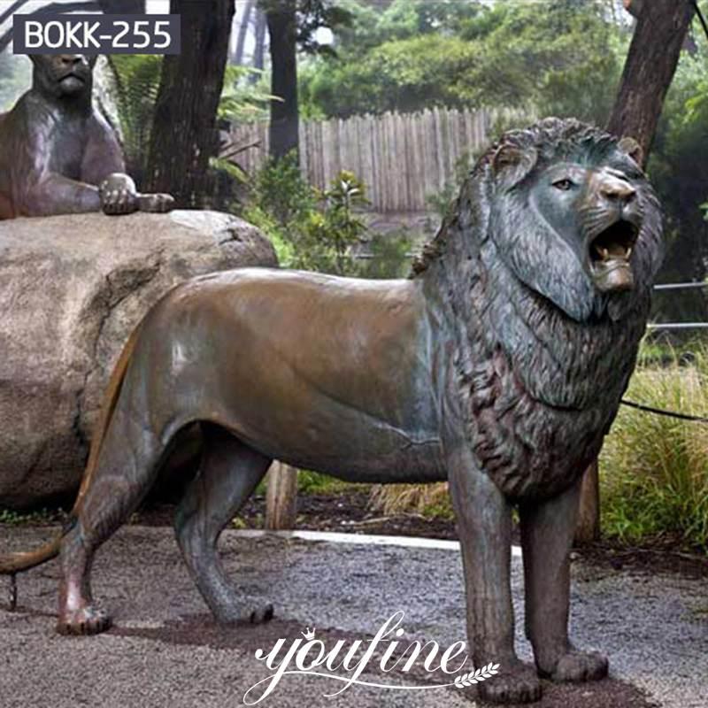 Life Size Vintage Bronze Lion Statue Animals Park Decoration for Sale Advanced Castings