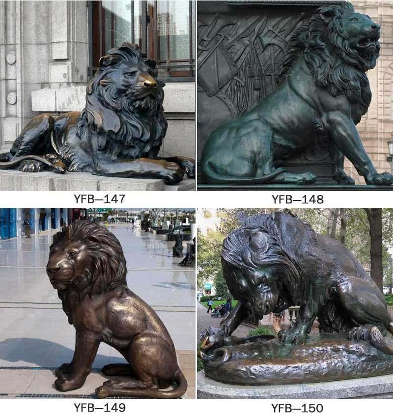 Life Size Vintage Bronze Lion Statue Animals Park Decoration for Sale Other Designs