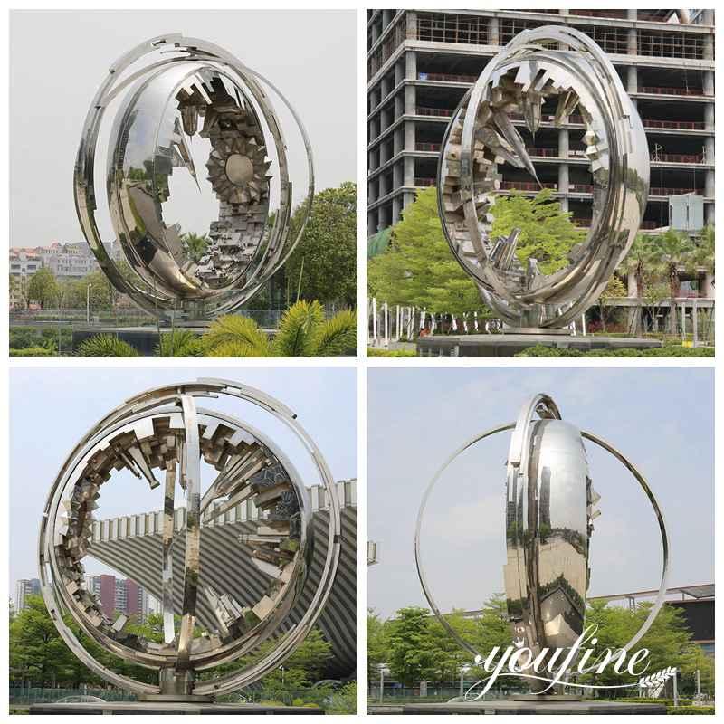 Large Outdoor Modern Metal Globe Sculpture for Park