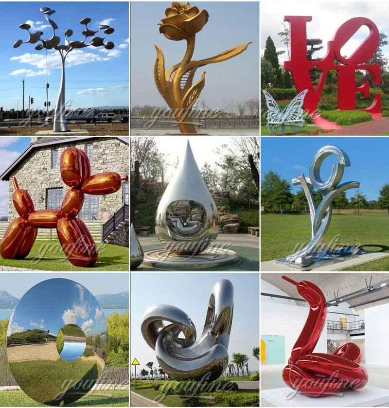 Large Outdoor Modern Metal Sculptures