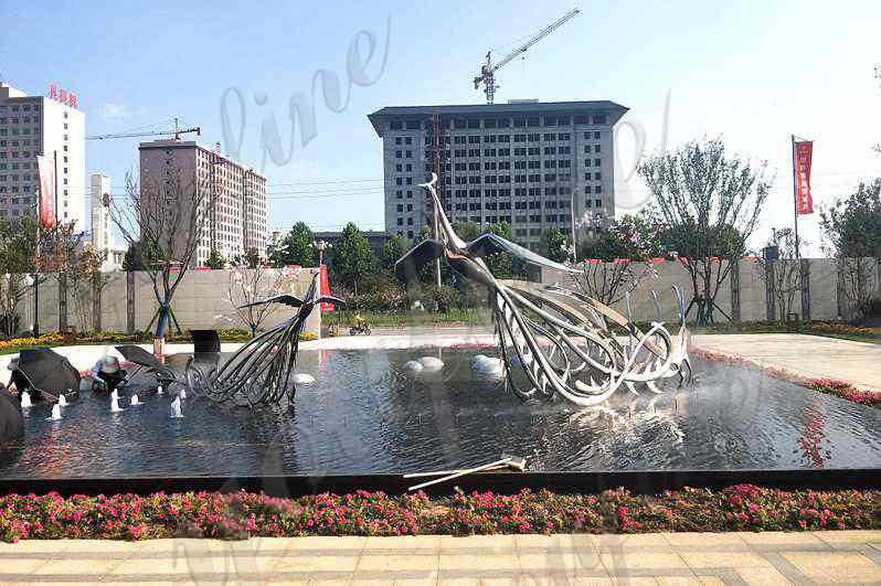 Metal Phoenix Sculpture for Sale