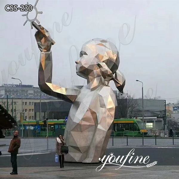 Stainless Steel Figure Sculpture Large Metal Sculptures for Sale CSS-230