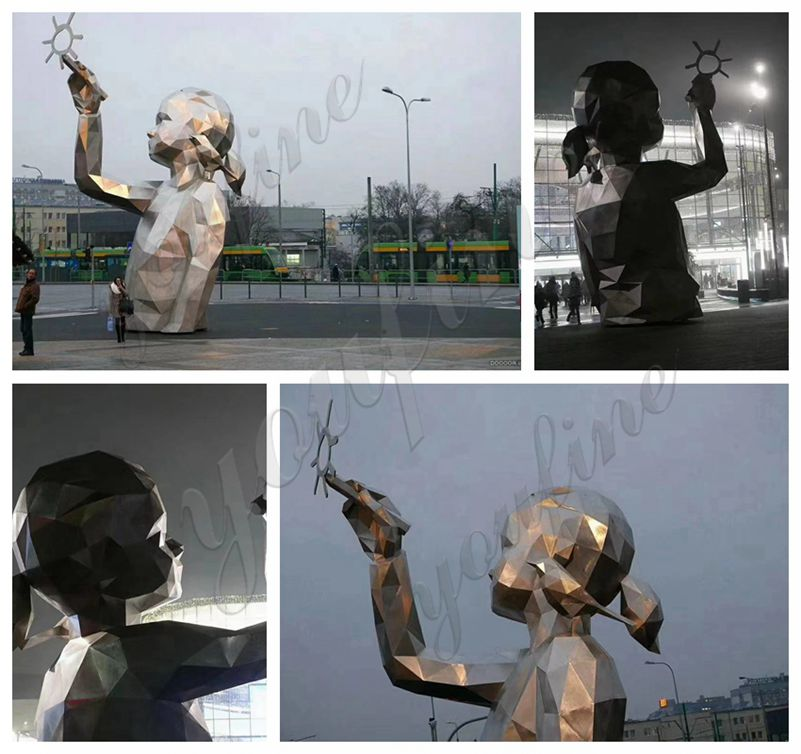 Stainless Steel Figure Sculpture