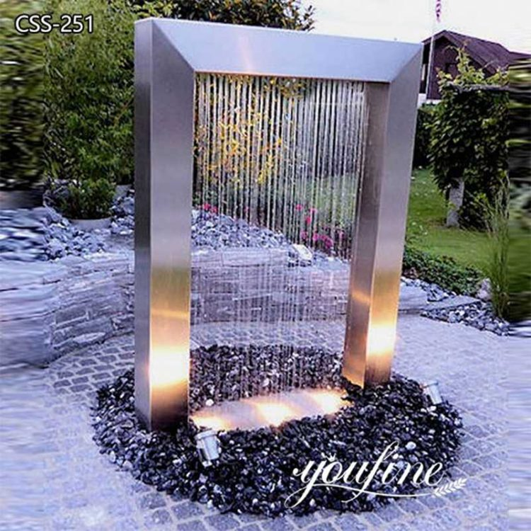 Outdoor Garden Stainless Steel Water Feature Sculpture for Sale CSS-251