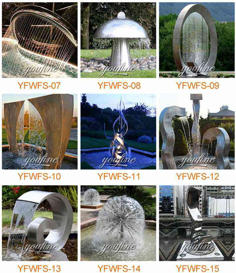 Stainless Steel Water Feature Sculptures