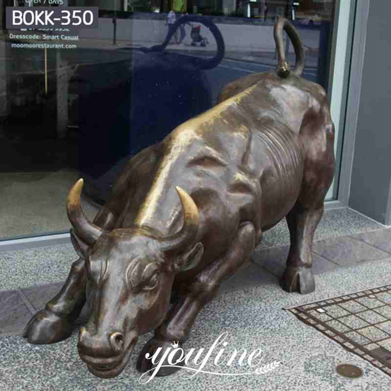 Life Size Wall Street Charging Bull Statue