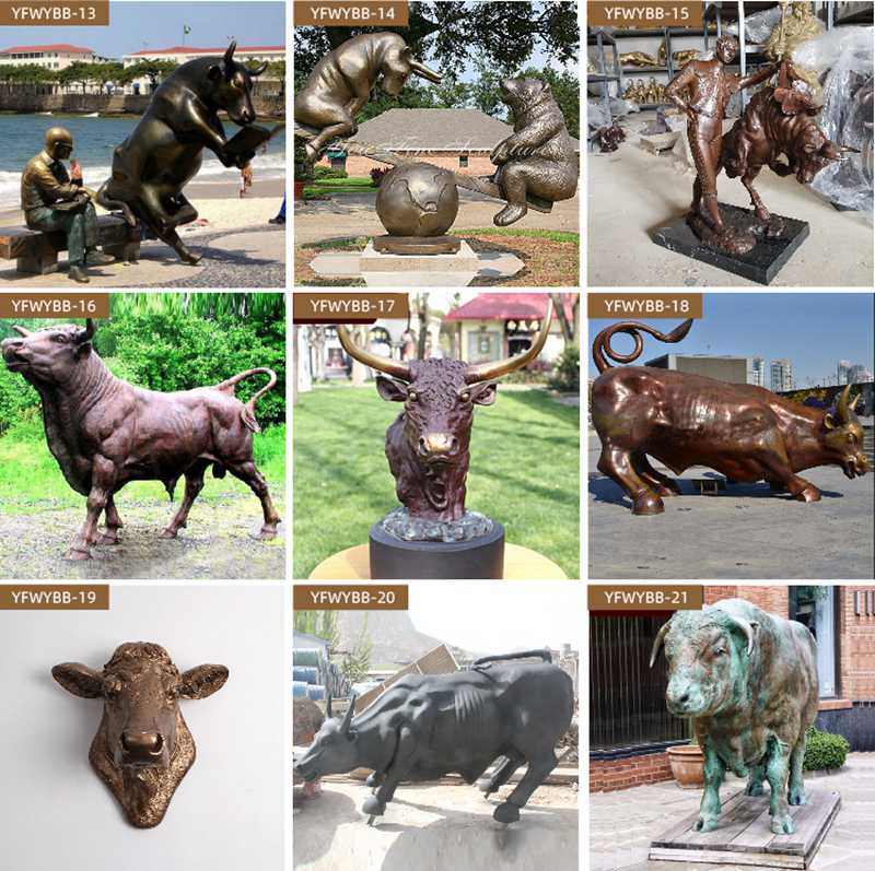 Life Size Wall Street Charging Bull Statue More Designs