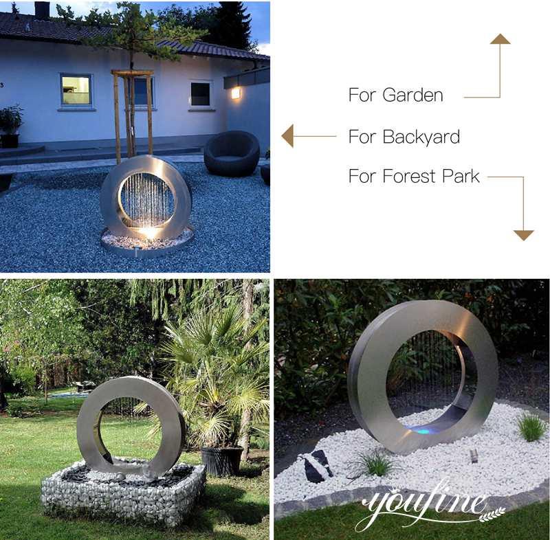 outdoor modern water features