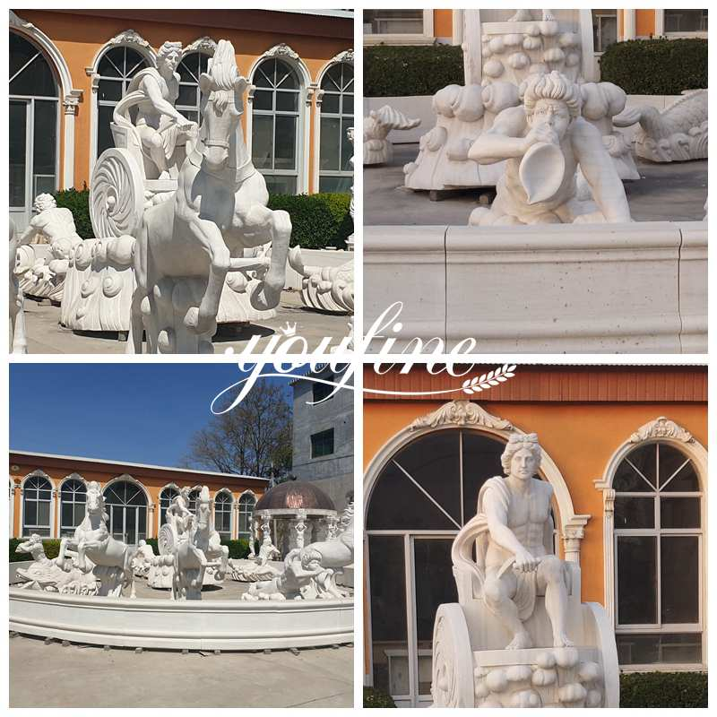 Hotel Square Exquisite Apollo Marble Fountain for sale