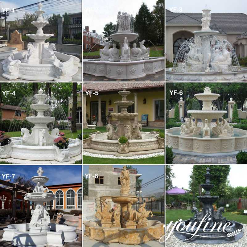 large Marble Horse Fountain for Sale